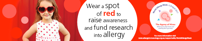 Wear a spot of red for aifa research in WAW
