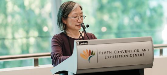 Dr Melanie Wong announcing