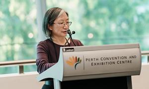 Dr Melanie Wong at AIFA awards announcement