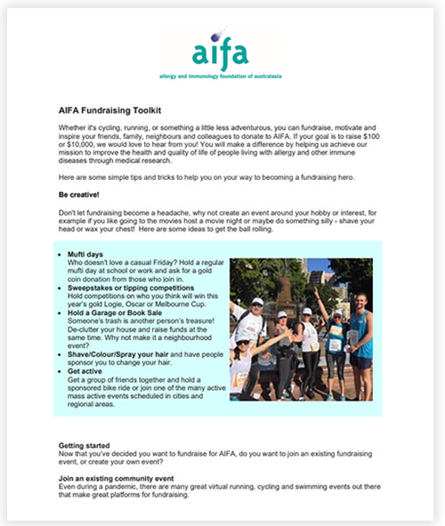 AIFA Fundraising toolkit 2020