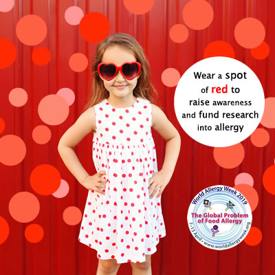Wear a Spot of Red during World Allergy Week 2019
